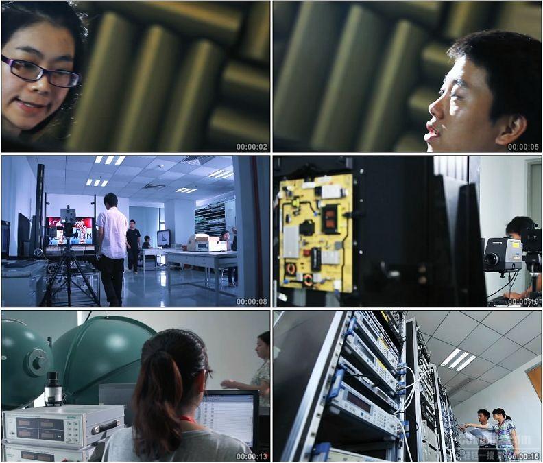 YC1862-电视机先进技术科研开发声波和光感实验高清实拍视频素材