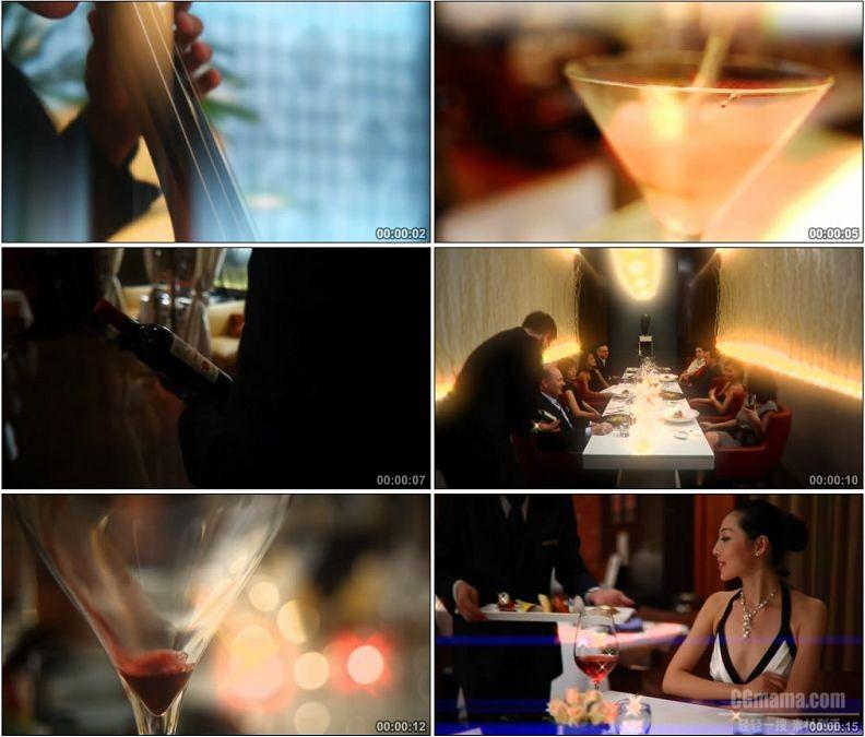YC1894-酒吧调制鸡尾酒品尝红酒高清实拍视频素材