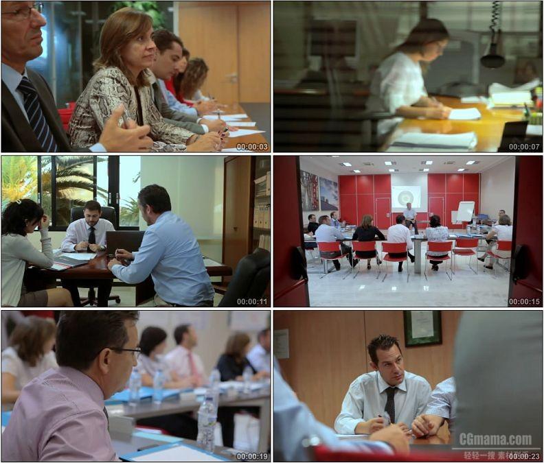 YC1930-外国人商务会议研究讨论演讲研讨会洽谈高清实拍视频素材