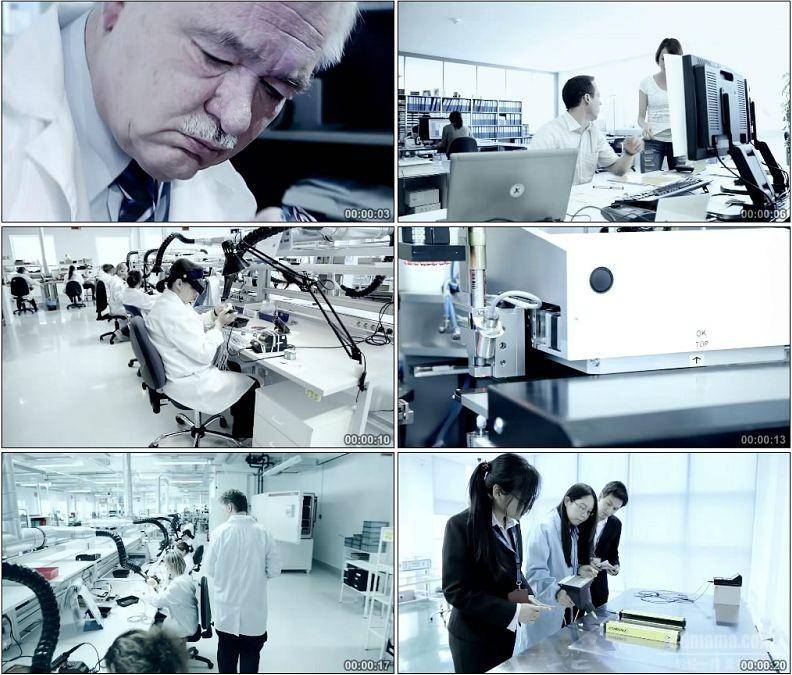 YC1954-中外合作研发团队科学研究电子配件高清实拍视频素材
