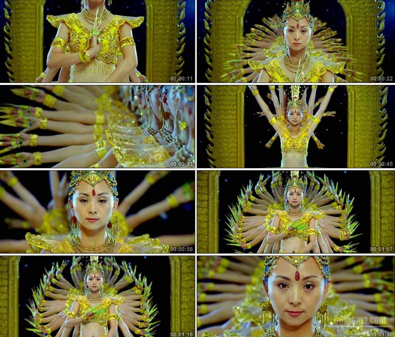 YC1985-千手观音敦煌舞蹈高清实拍视频素材