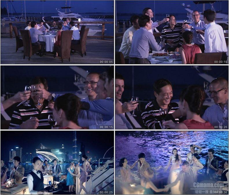 YC1994-商务餐饮度假休闲聚餐游艇派对高清实拍视频素材