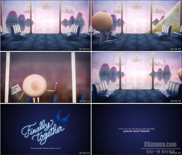 TVC01352-Finally Together内衣广告 Airport.720P