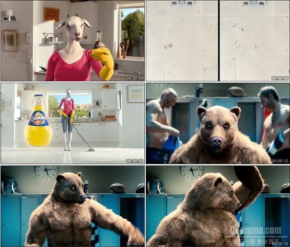 TVC01372-Orangina饮料广告 Statistics - Goat Bear Generic.1080P