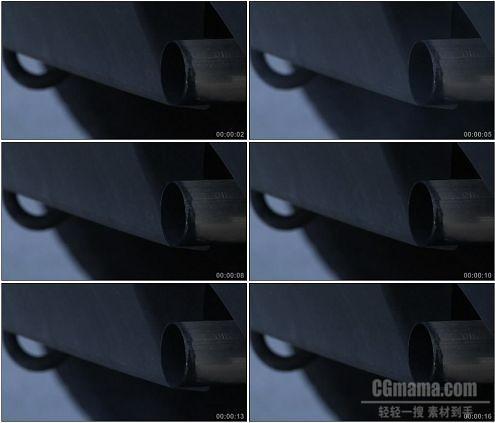CG0019-汽车发动排放尾气高清实拍视频素材