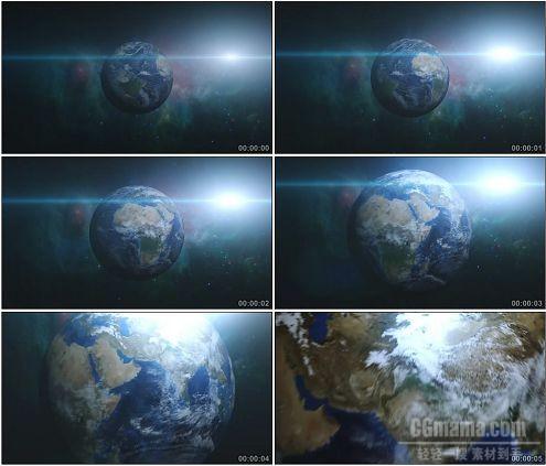CG0028-地球特写地貌外太空景象蓝色星球高清实拍视频素材
