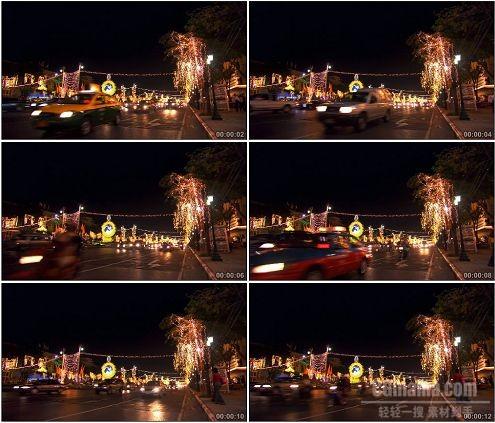 CG0037-亚洲城市高清夜晚公路街道车流高清实拍视频素材