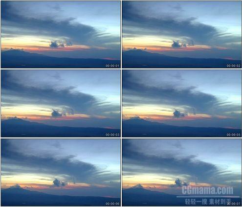 CG0046-夕阳下的天空自然风光美景高清实拍视频素材