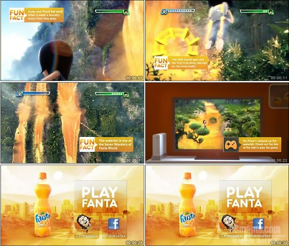 TVC01458-Fanta饮料广告 Play Fanta Waterfall.1080P