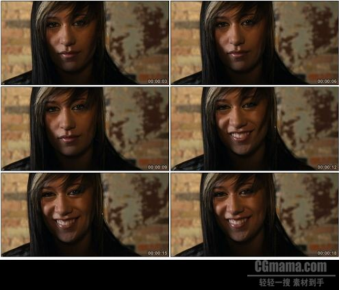 CG0065-镜头前微笑的年轻女性人物女人形色高清实拍视频素材