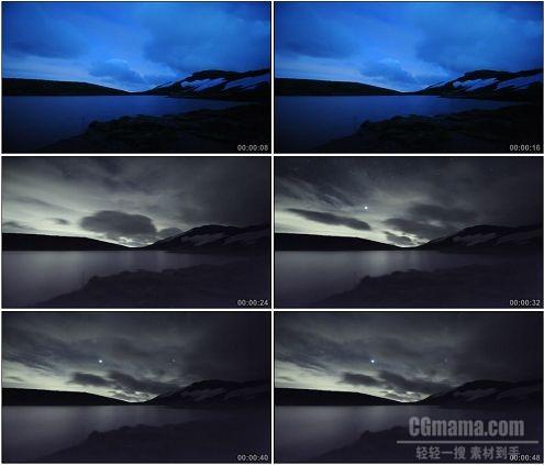 CG0068-气息万变云层快速浮动的白马银河系高清实拍视频素材