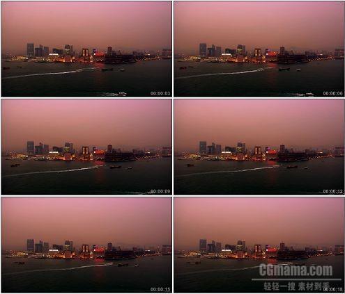 CG0090-亚洲城市海滨夜晚高清实拍视频素材