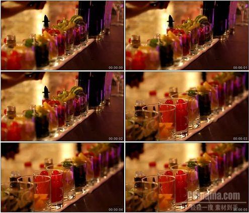CG0095-酒吧酒保的酒杯办公桌特写高清实拍视频素材
