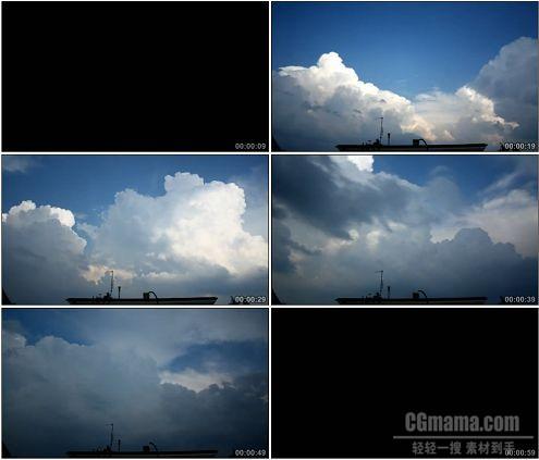 CG0110-乌云翻滚聚拢打雷延时摄影高清实拍视频素材