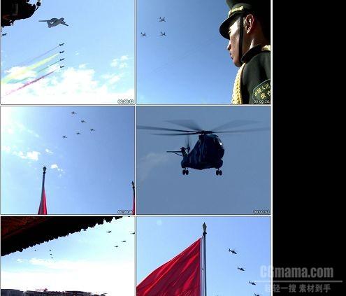 CG0128-60周年庆典阅兵飞行方队实拍视频素材
