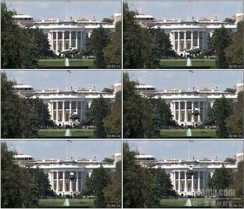 CG0184-美国白宫前直升飞机起飞高清实拍视频素材