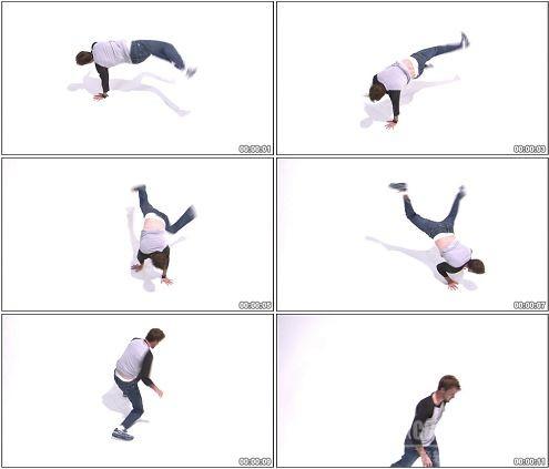 CG0231-跳霹雳舞街舞的男人高清实拍视频素材