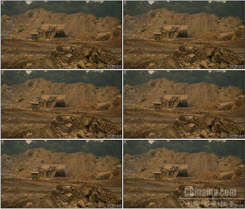 CG0235-工地建筑泥头车铲车挖掘机挖土运输高清实拍视频素材