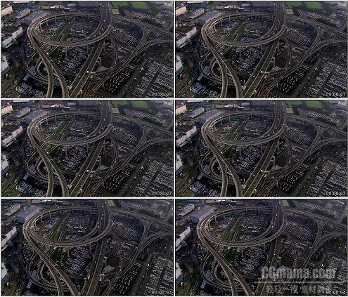 CG0238-绕城高架桥航拍高清实拍视频素材