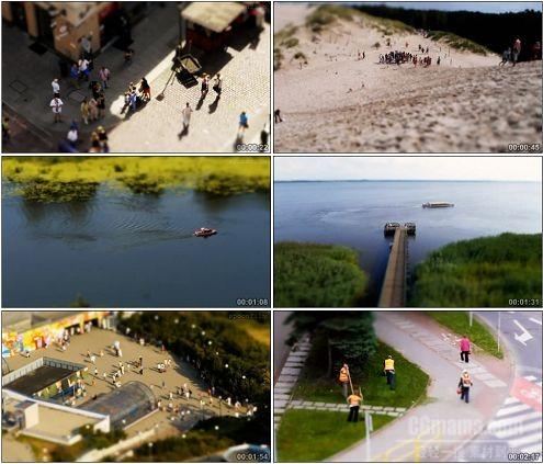 CG0247-国外微缩景观快镜头美丽风光高清实拍视频素材