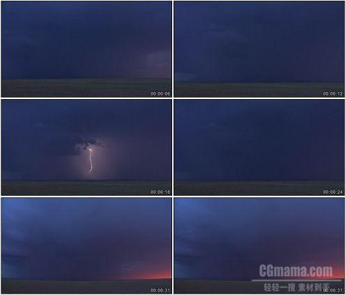 CG0269-闪电阴天自然景观高清实拍视频素材