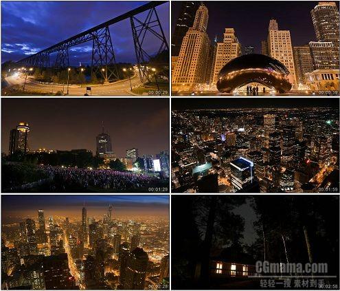 CG0281-城市美丽风光夜景星空车流霓虹高清实拍视频素材