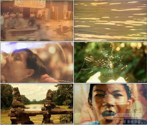 CG0284-柬埔寨泰拳比赛微笑雕像街头人文地理风情景观高清实拍视频素材