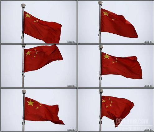 CG0301-中国国旗五星红旗迎风飘扬的特写镜头高清实拍视频素材