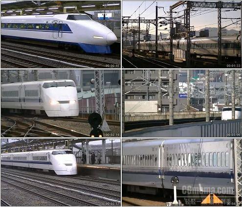 CG0309-日本新干线高铁交通工具高清实拍视频素材