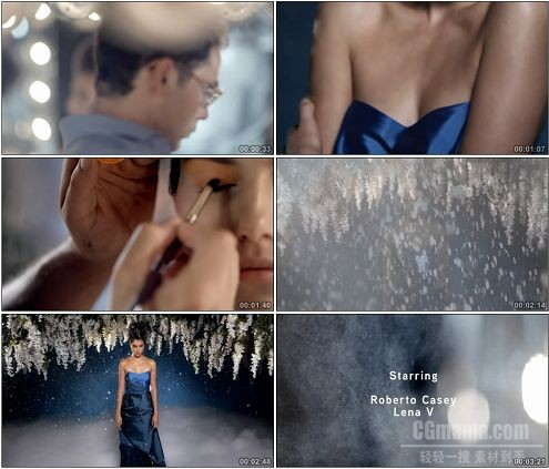 CG0312-外国美女时尚化妆画面特写高清实拍视频素材