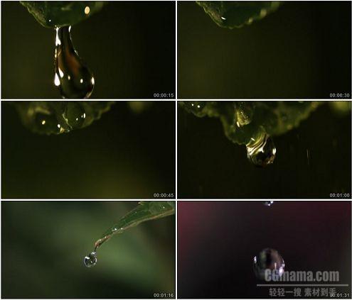 CG0341-水滴滴落特写高清实拍视频素材