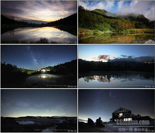 CG0347-流逝的大自然微速摄影高清实拍视频素材