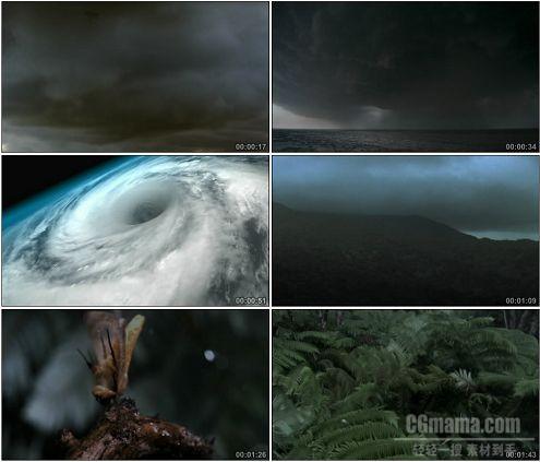 CG0399-航拍龙卷风形成过程和发展自然天气变化高清实拍视频素材