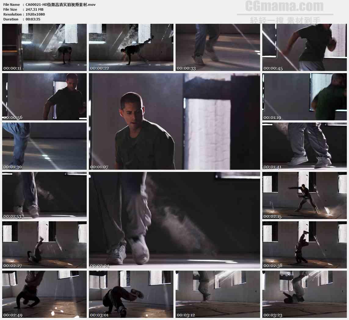 CA00021-男子街舞舞蹈艺术高清实拍视频素材