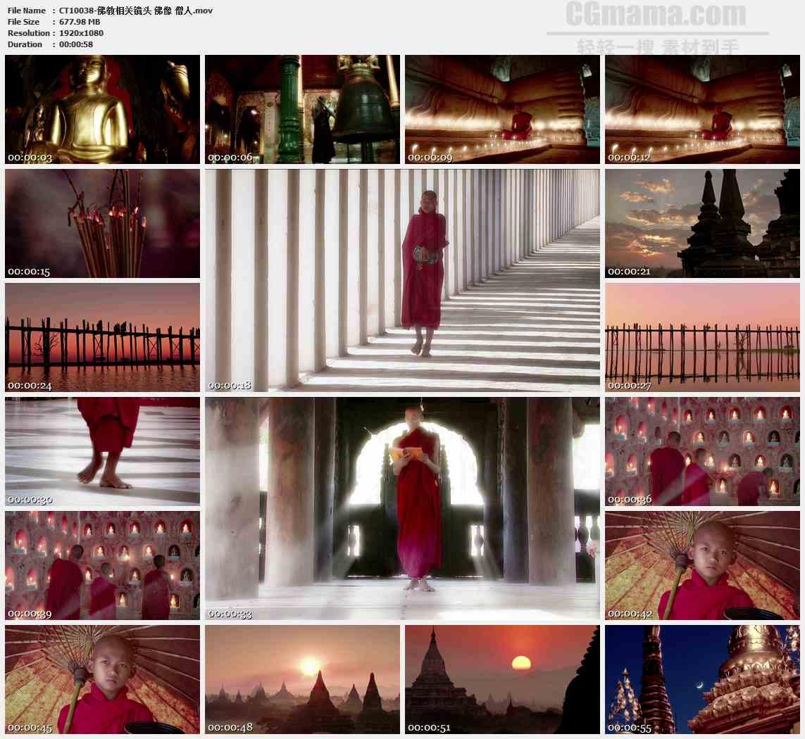 CT10038-佛教佛像僧人宗教高清实拍视频素材