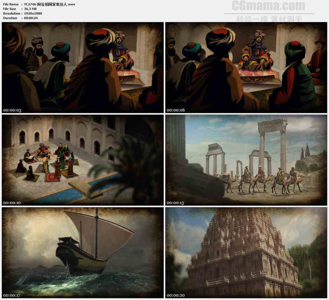 YC2746-阿拉伯国家埃及人高清实拍视频素材