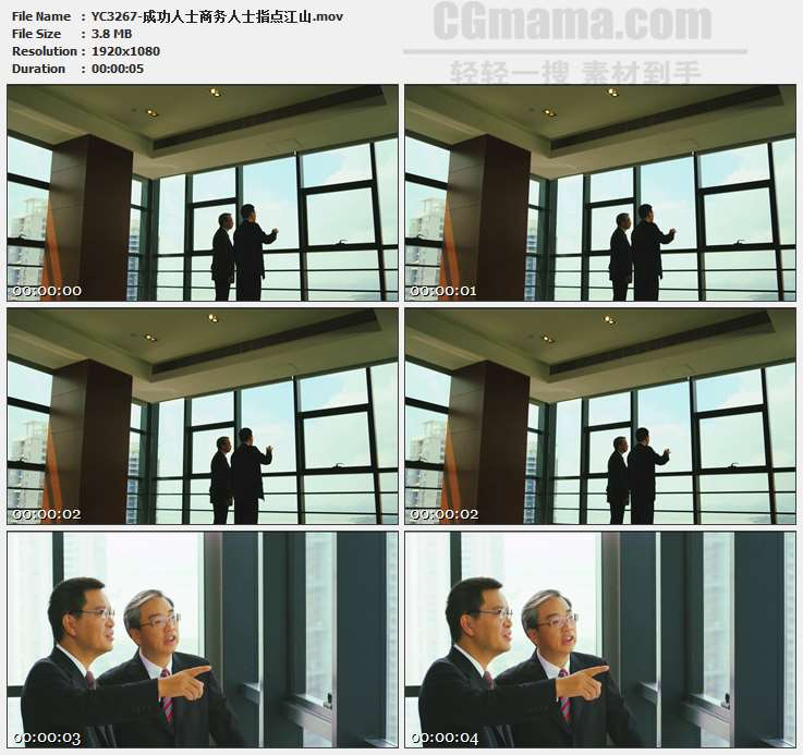 YC3267-成功人士商务人士指点江山高清实拍视频素材