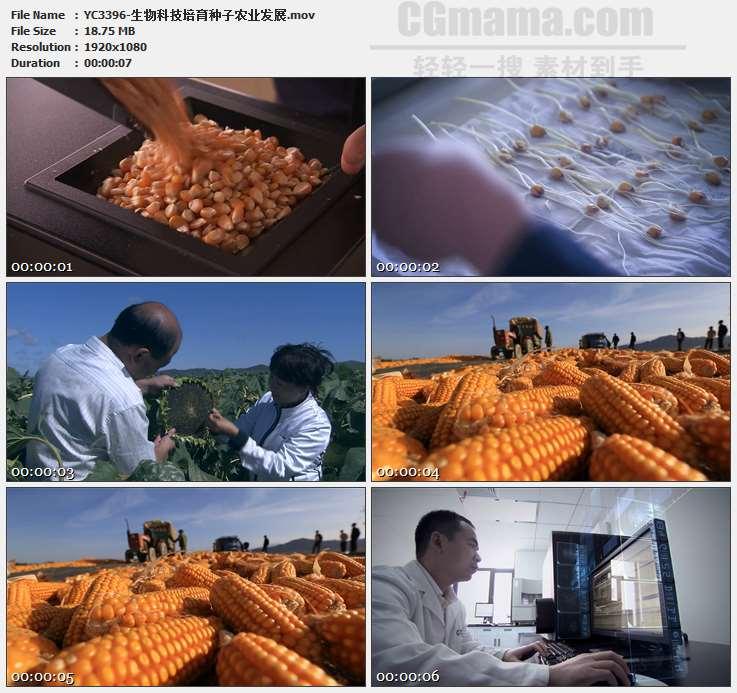 YC3396-生物科技培育种子农业发展高清实拍视频素材