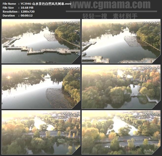 YC3946-山水景色自然风光树林高清实拍视频素材