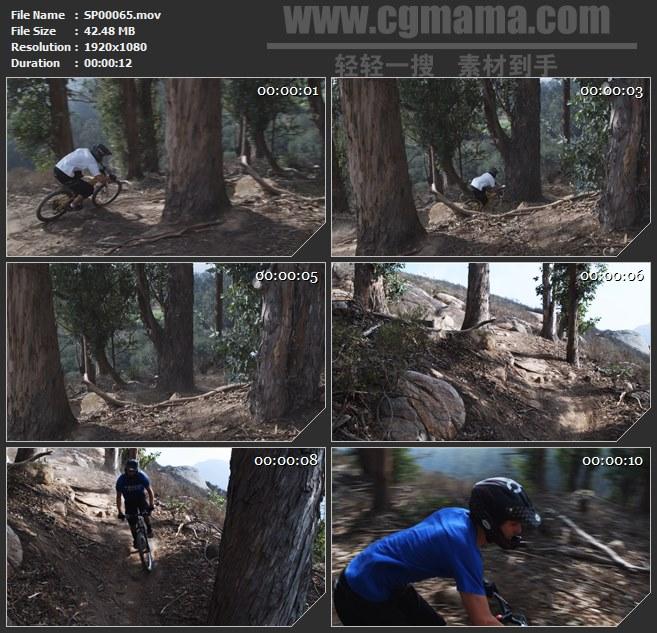 SP00065-山地自行车极限挑战体育运动高清实拍视频素材