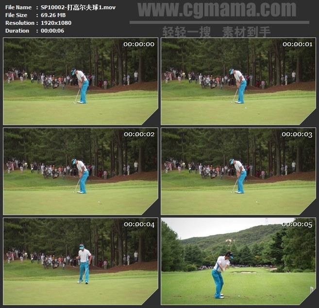 SP10002-打高尔夫球进洞体育运动高清实拍视频素材