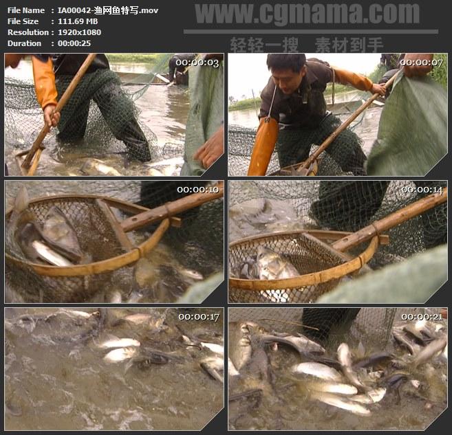 IA00042-渔网捕鱼渔业特写高清实拍视频素材