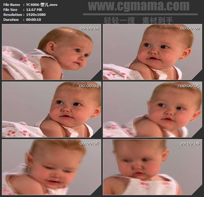 YC4006-婴儿宝贝孩子高清实拍视频素材