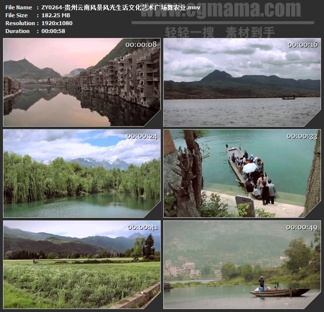 ZY0264-贵州云南风景风光生活文化艺术广场舞农业 高清实拍视频素材