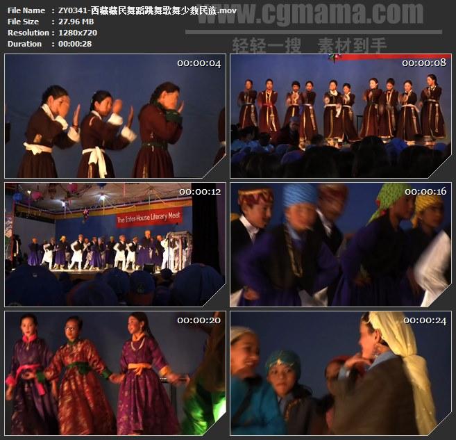 ZY0341-西藏藏民舞蹈跳舞歌舞少数民族 高清实拍视频素材