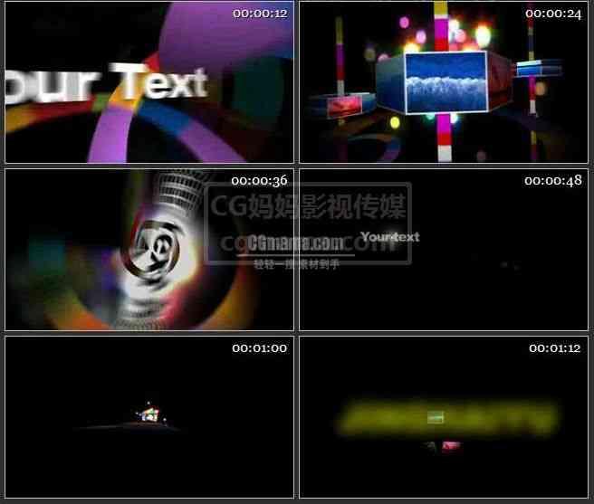 AE0043-七彩色盘照片演绎