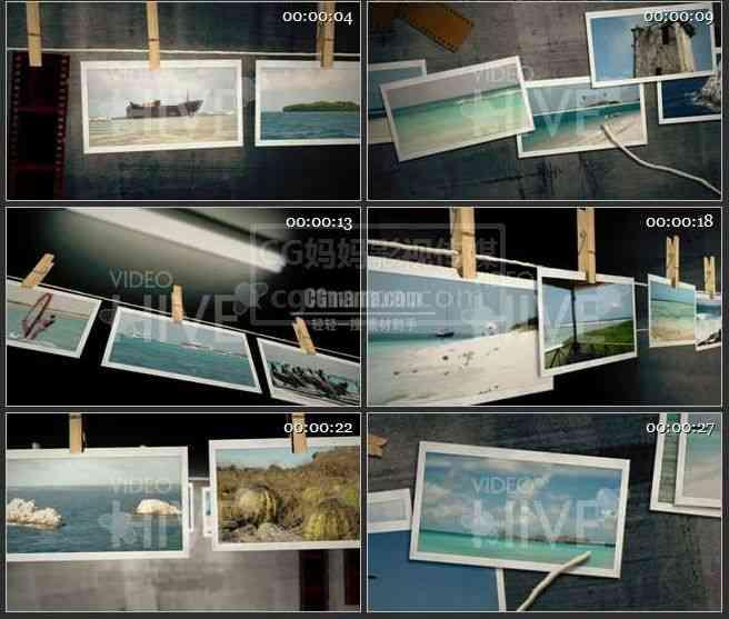 AE0045-趣味晒衣绳照片展示