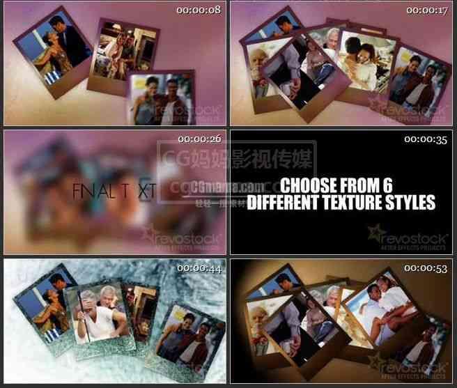 AE0075-多色调的照片相册
