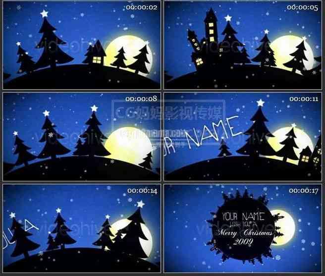 AE0119-圣诞 动画文本展示