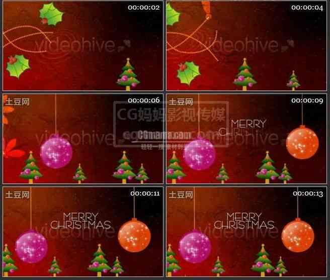 AE0121-圣诞快乐 动画展示